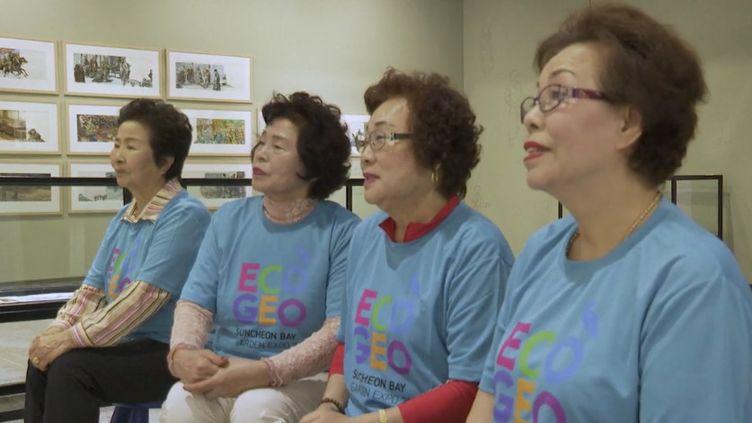 En Corée du Sud, où la scolarisation des filles était quasi nulle le siècle dernier, des grands-mères sont invitées à rattraper leur retard à l'école primaire. Des établissements leur ouvrent les portes. (Capture d'écran franceinfo)