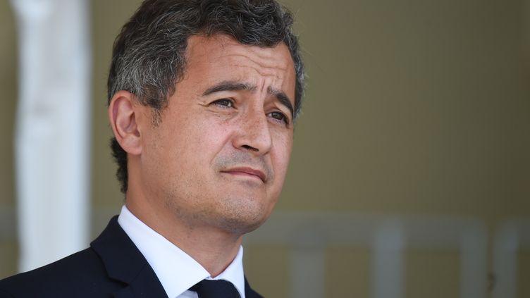 Le ministre de l'Intérieur, Gérald Darmanin, lors d'une cérémonie au Mans (Sarthe), le 6 août 2020. (JEAN-FRANCOIS MONIER / AFP)