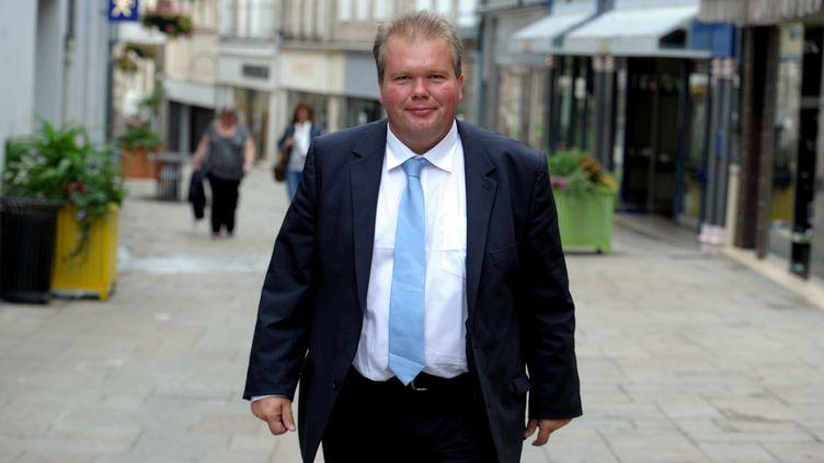 Le député de la CreuseJean-Baptiste Moreau, à Guéret, le 3 octobre 2018. (BARLIER BRUNO / MAXPPP)