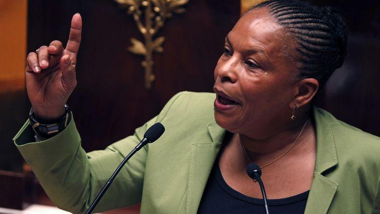 La ministre de la Justice, Christiane Taubira, parle à l'Assemblée nationale le 29 janvier 2013. (CHARLES PLATIAU / REUTERS)