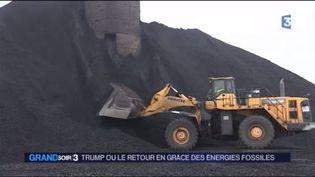 Dondal Trump a fait des promesses en faveur de l'industrie du charbon aux États-Unis. (FRANCE 3)