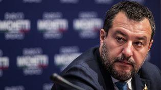 L'ancien ministre Matteo Salvini, le 13 octobre 2021 à Rome (Italie). (MAXPPP)