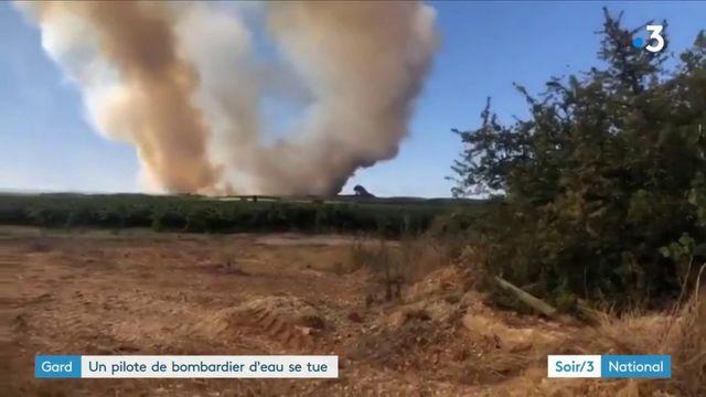 Gard : un pilote de bombardier d'eau se tue