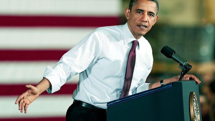 Le président américain Barack Obama, le 10 décembre 2012 à Redford (Michigan, Etats-Unis). (BILL PUGLIANO / GETTY IMAGES NORTH AMERICA)