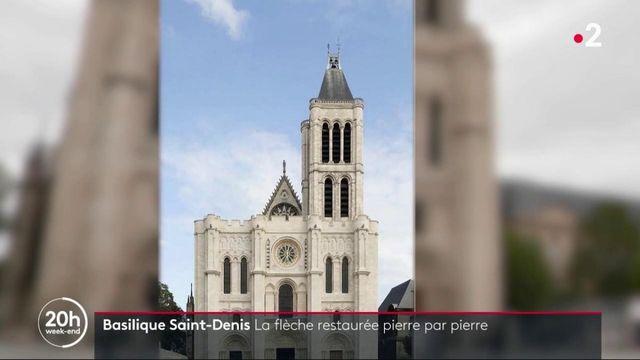 Basilique Saint-Denis : La flèche restaurée pierre par pierre
