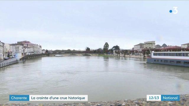 Charente-Maritime : les habitants de Saintes craignent une crue historique