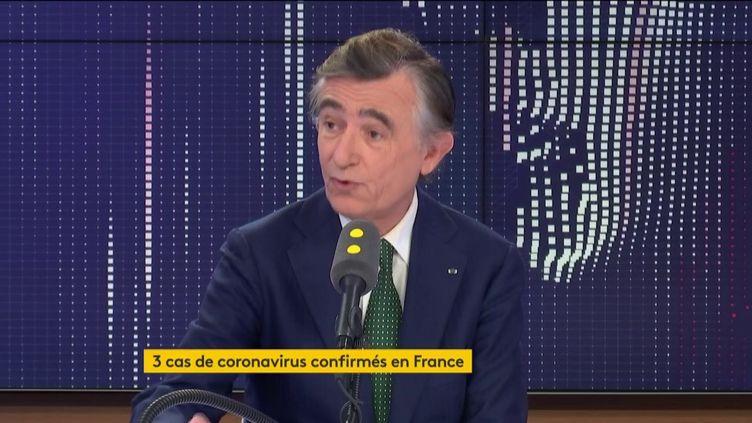 Philippe Douste-Blazy, sur franceinfo, samedi 25 janvier 2020. (FRANCEINFO / RADIOFRANCE)