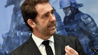 Le ministre de l'Intérieur, Christophe Castaner,à Saint-Astier (Dordogne), le 15 mars 2019. (GEORGES GOBET/AFP)