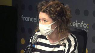 """Charlotte Pudlowski, co-fondatrice du studio Louie Media etcréatrice du podcast""""Ou peut-être une nuit"""". (FRANCEINFO / RADIOFRANCE)"""