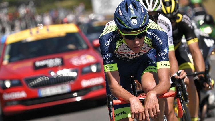 Yoann Offredo (Wanty) échappé sur le Tour de France (MARCO BERTORELLO / AFP)
