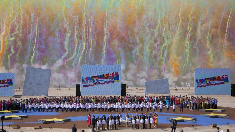 Le 6 juin 2014, àOuistreham (Calvados),cérémonies du 70e anniversaire du Débarquement en Normandie. (IAN LANGSDON / AP / SIPA )