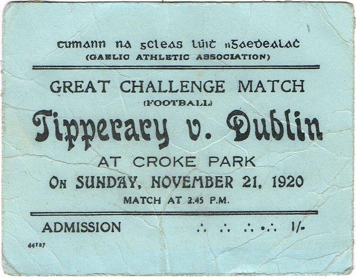Billet du match Tipperary/Dublin