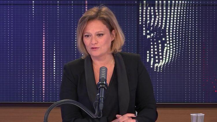 Olivia Grégoire, secrétaire d'Etat chargée de l'Economie sociale, solidaire et responsable, invitée de franceinfo le 14 mai 2021. (FRANCEINFO / RADIO FRANCE)