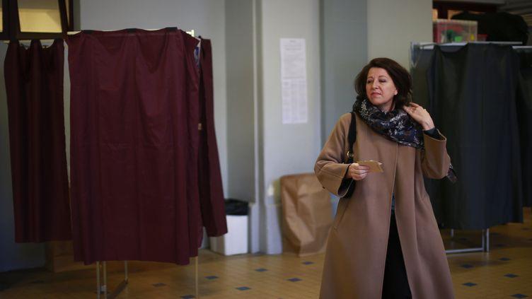 La candidate à la mairie de Paris Agnès Buzyn, dimanche 15 mars 2020. (RAFAEL YAGHOBZADEH / POOL / REA / ABACA)