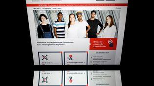 Laversion 2018 du site Parcoursup, sur lequel les lycéens doivent renseigner leur souhait dans l'Enseignement supérieur. (LIONEL BONAVENTURE / AFP)