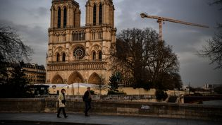 Notre-Dame de Paris le 17 mars 2020 (CHRISTOPHE ARCHAMBAULT / AFP)