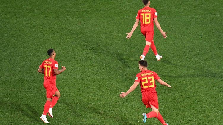 La joie belge après le but d'Adnan Januzaj  (KIRILL KUDRYAVTSEV / AFP)