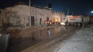 Une explosion a fait plusieurs morts, le 5 mars 2021 àMogadiscio (Somalie). (SADAK MOHAMED / ANADOLU AGENCY / AFP)
