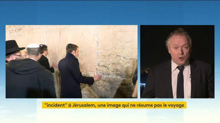 Emmanuel Macron à Jérusalem (FRANCEINFO)