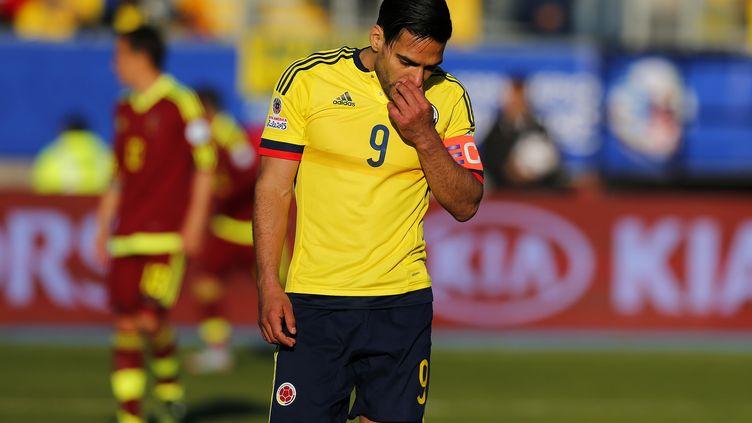 Radamel Falcao, l'attaquant et capitaine de la Colombie, est resté muet face au Venezuela. (PAUL PLAZA/PHOTOSPORT / PHOTOSPORT)