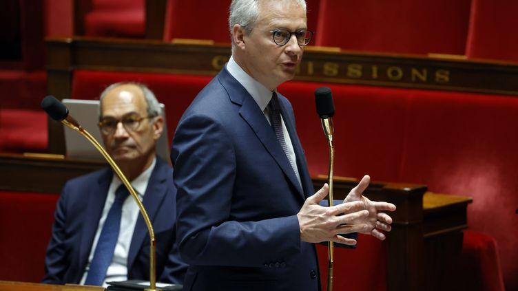Bruno Le Maire lors d'un débat à l'Assemblée nationale, le 17 avril 2020, à Paris. (THOMAS COEX / AFP)