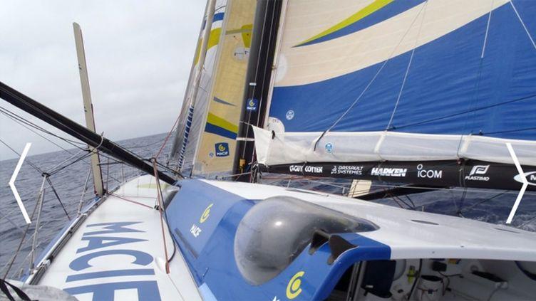 Photo prise par François Gabart, à bord de Macif
