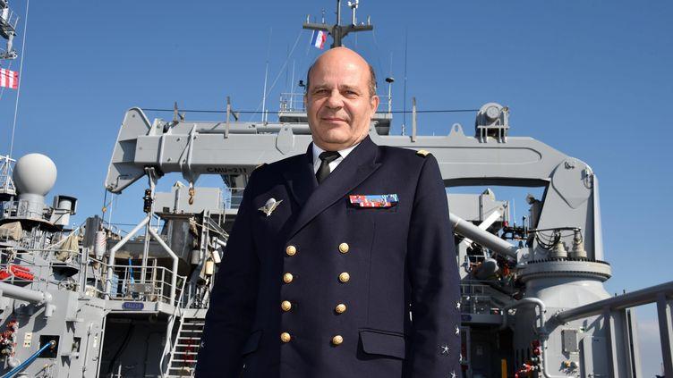 L'amiral Christophe Prazuck, chef d'État-major de la Marine, le 5 juillet 2018 à Brest. (CLAUDE PRIGENT / MAXPPP)