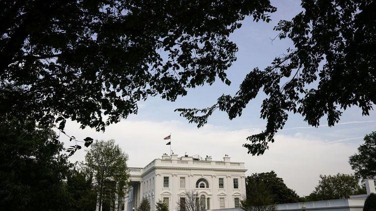 La Maison Blanche à Washington, le 28 avril 2021. (JOSHUA ROBERTS / GETTY IMAGES NORTH AMERICA / AFP)
