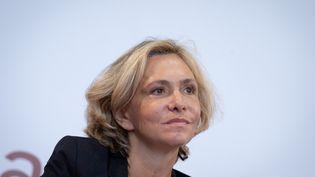 Valérie Pécresse, présidente de la région Ile-de-France et candidate de la primaire de la droite pour la présidentielle, le 11 septembre 2021 à la Fête de l'Huma,en Seine-Saint-Denis. (GEORGES GONON-GUILLERMAS / HANS LUCAS / AFP)