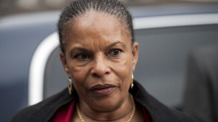 La ministre de la Justice Christiane Taubira au tribunal correctionnel pour mineurs le 20 mai 2012 à Paris. (FRED DUFOUR / AFP)