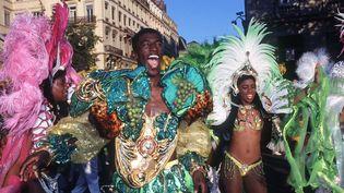 En 1996, le thème de la Biennale de la danse était le Brésil. En 2014, la 10e édition du défilé s'ouvre avec ce même thème : festif et plein de chaleur  (FAYOLLE PASCAL/SIPA)