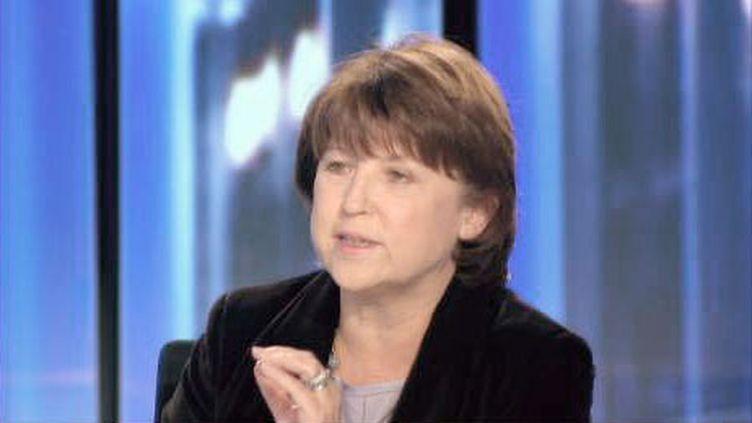 Martine Aubry, le 24 novembre sur France 2. (France 2)