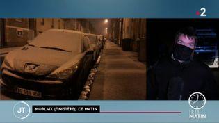 La neige est tombée dans le Finistère mardi 9 et mercredi 10 février (France 2)