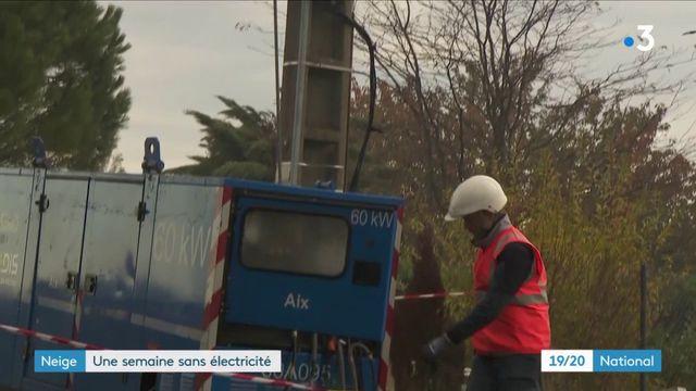 Neige dans le Sud-Est : encore 1 000 foyers privés d'électricité
