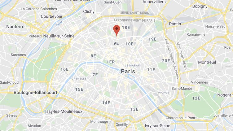L'hommea foncé dans les terrasses situées dans le quartier des Abbesses dans le 18e arrondissement de Paris. (GOOGLE MAPS)