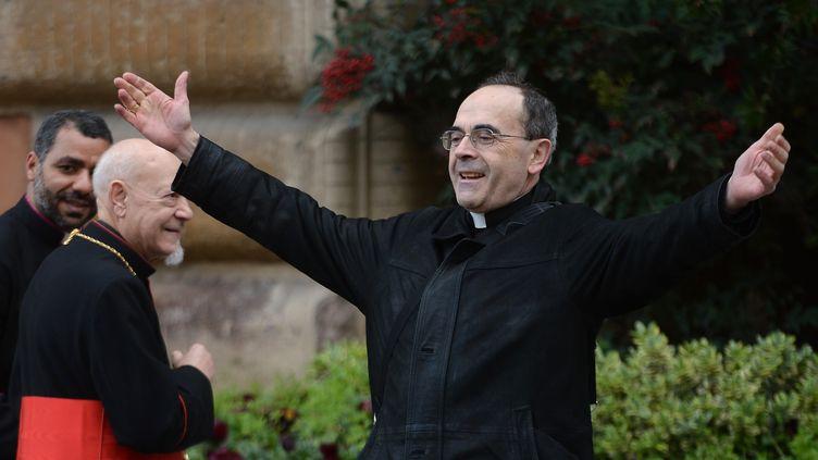 Le cardinal Philippe Barbarin, le9 mars 2013 auVatican. (FILIPPO MONTEFORTE / AFP)