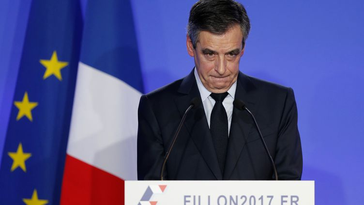 François Fillon lors d'une conférence de presse, à Paris, le 6 février 2017. (BENOIT TESSIER / REUTERS)