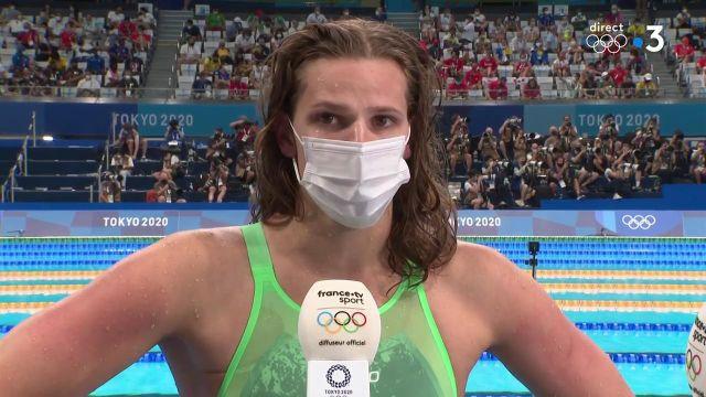 """Marie Wattel explique ne pas avoir de regrets après sa sixième place décrochée lors de la finale du 100 mètres papillon : """"J'étais derrière le plot, j'avais envie de gagner."""""""