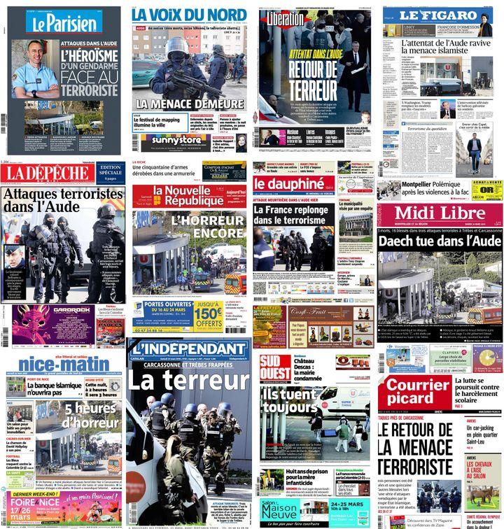Les unes de la presse, samedi 24 mars 2018. (FRANCEINFO)