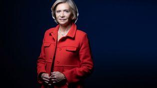 La présidente de la région Ile-de-France Valérie Pécresse, le 8 avril 2021 à Paris. (JOEL SAGET / AFP)