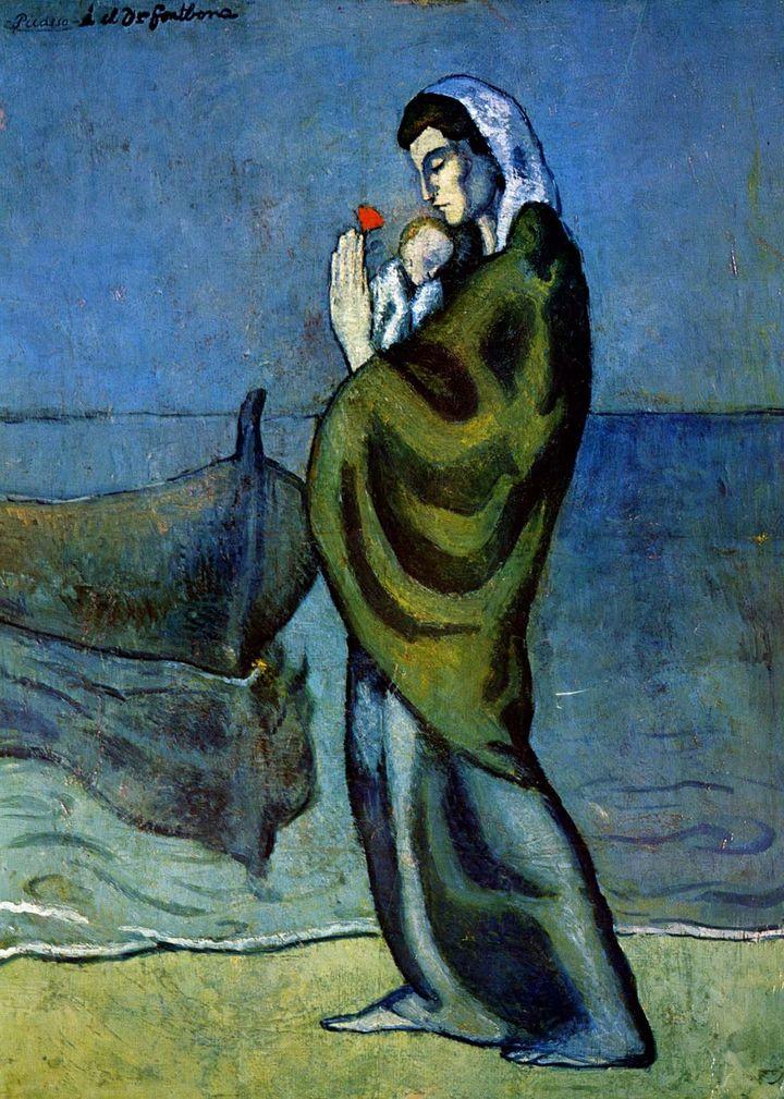 """""""Maternité au bord de l'eau"""", Pablo Picasso, Barcelone, 1902"""