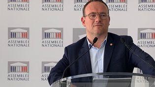 Damien Abad, député de l'Ain, à l'Assemblée nationale.Photo d'illustration. (ROSALIE LAFARGE / FRANCE-CULTURE)