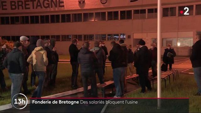 Renault : les salariés bloquent la Fonderie de Bretagne pour protester contre la mise en vente