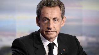 Nicolas Sarkozy, sur le plateau du JT de TF1, le 24 août 2016. (BERTRAND GUAY / AFP)