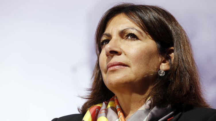 La maire de Paris, Anne Hidalgo, lors d'un meeting, le 20 mai 2015, à Paris. (THOMAS SAMSON / AFP)