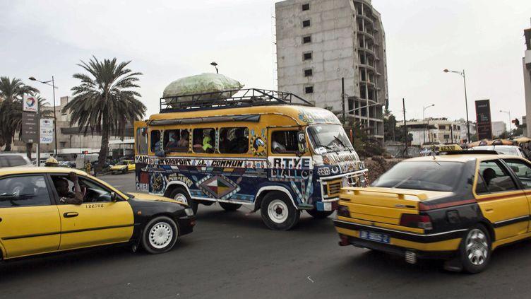 Dakar et ses encombrements. Photo prise le 19 décembre 2015. (JANE HAHN/AP/SIPA / AP)