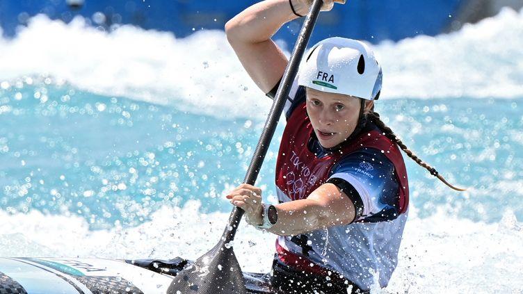 Marjorie Delassus a signé une belle performance pour ses premiers Jeux olympiques, le 28 juillet 2021. (LUIS ACOSTA / AFP)