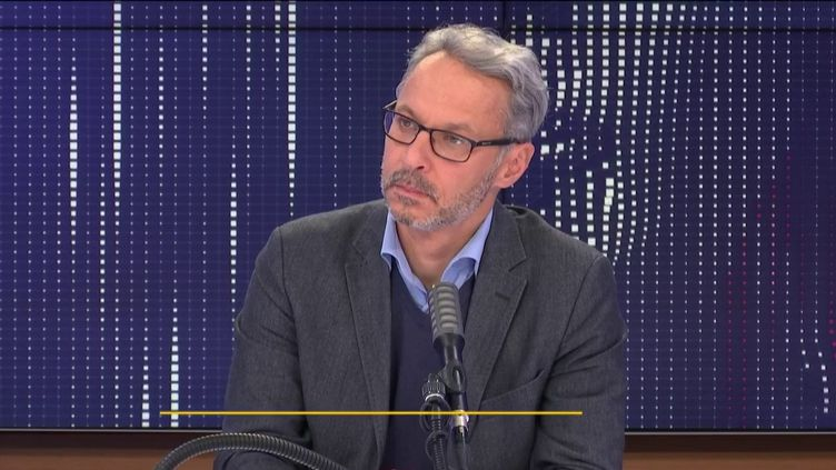Iannis Roder, historien et membre du Conseil des sages de la laïcité, était l'invité de franceinfo mercredi 21 octobre. (FRANCEINFO / RADIOFRANCE)