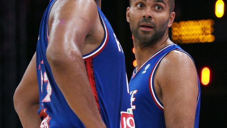 Boris Diaw et Tony Parker, les deux joueurs de l'équipe de France (PHILIPPE MILLEREAU / DPPI MEDIA)