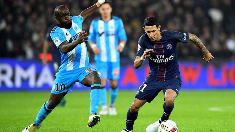 Angel Di Maria n'aura pas trouvé la solution face au Marseille de Lass Diarra (FRANCK FIFE / AFP)